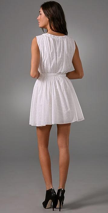 Thakoon Sleeveless Smocked Dress