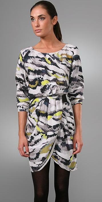 Thakoon Dolman Draped Bottom Dress