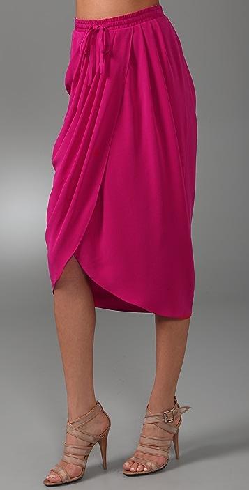 Thakoon Draped Front Long Skirt