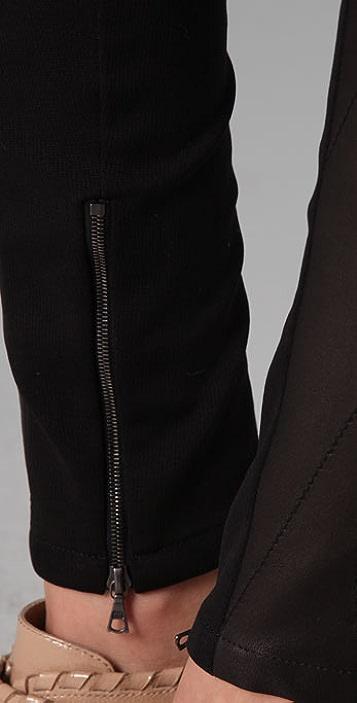 Thakoon Breakaway Leather Leggings