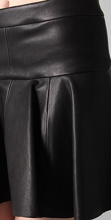 Thakoon Leather Tulip Skirt