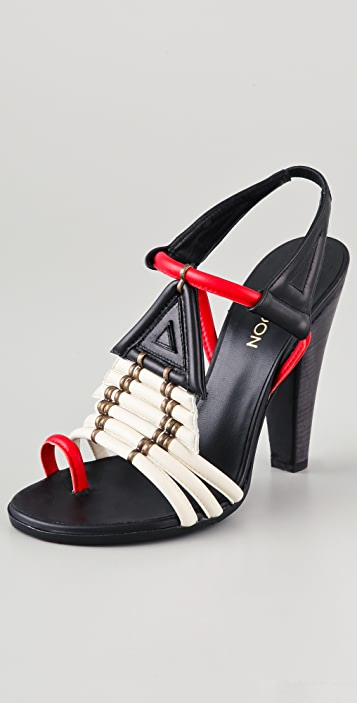 5fab7bc4c93 Thakoon Toe Ring High Heel Sandals