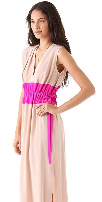 Thakoon Drawstring Waist Gown