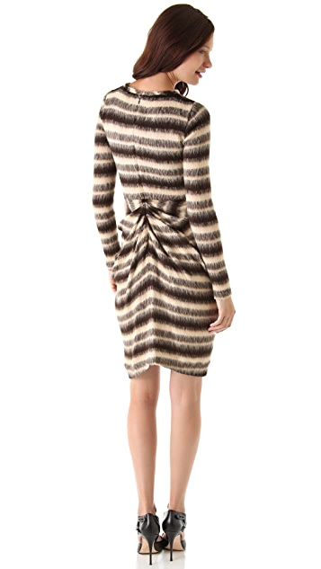 Thakoon Gathered Front Sweater Dress