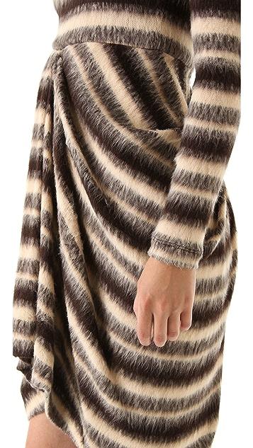 Thakoon Gathered Front Sweater Dress
