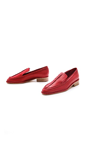 Thakoon Loafers with Stitching & Braids
