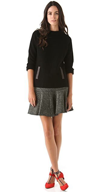 Thakoon Foiled Knit Skirt