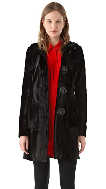 Thakoon Velvet Toggle Coat