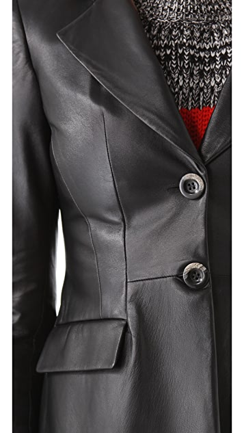 Thakoon Leather Hooded Blazer