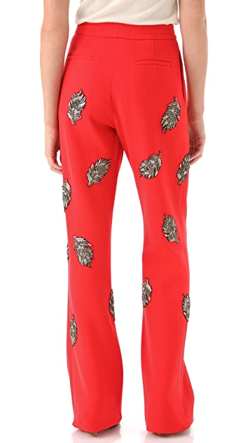 Thakoon Embroidered Cuffed Trousers