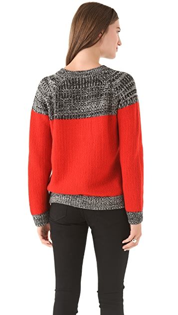 Thakoon Marled Crew Neck Sweater