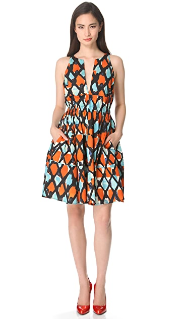 Thakoon Cinched Sleeveless Dress