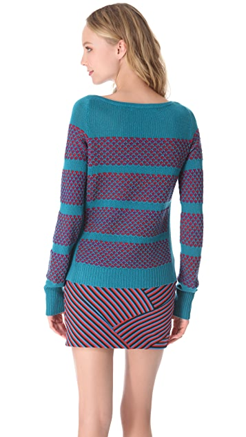Thakoon Geo Boat Neck Sweater