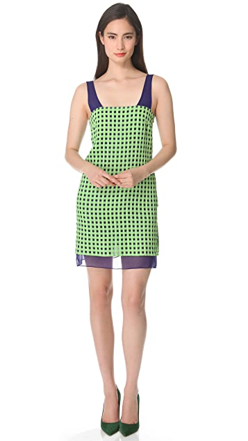 Thakoon Checked Sleeveless Dress
