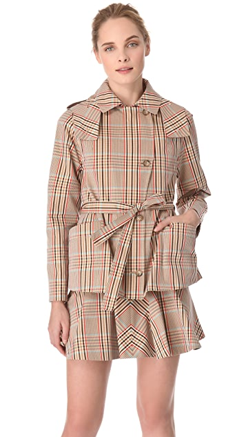 Thakoon Hooded Trench Coat