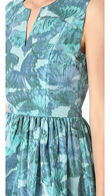 Thakoon Sleeveless Gathered Waist Dress