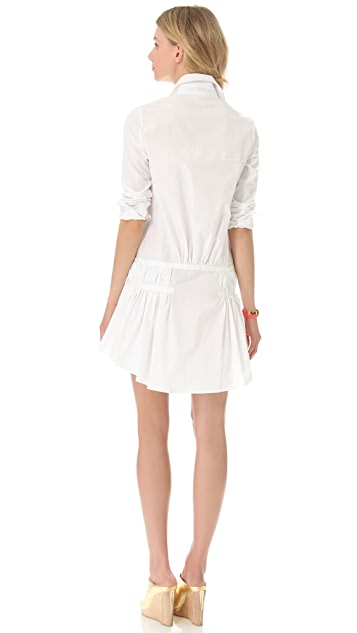Thakoon Gathered Peplum Shirtdress