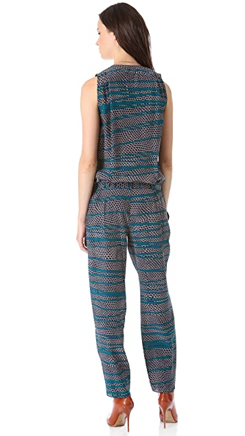 Thakoon Belted Sleeveless Jumpsuit