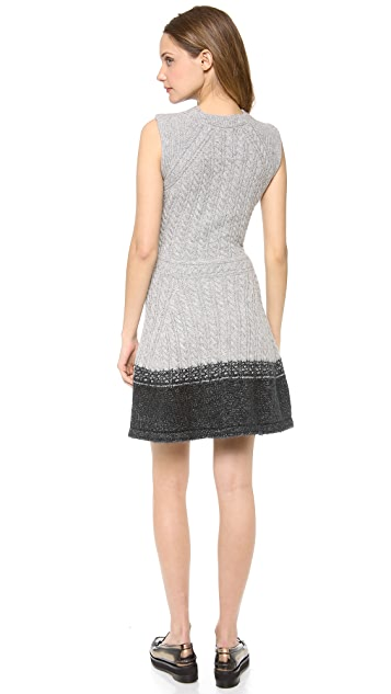 Thakoon Flare Wool Dress