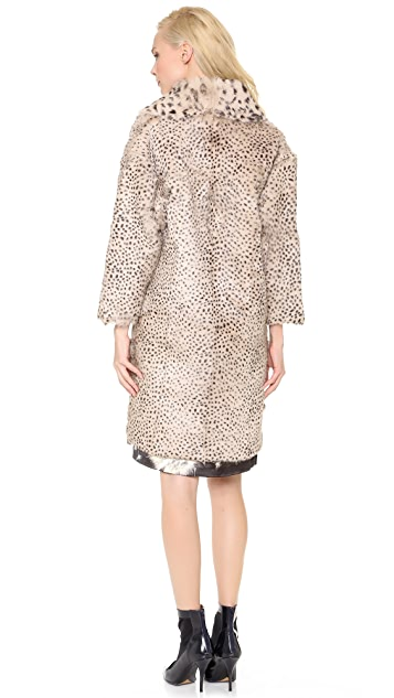 Thakoon Fur Coat with 3/4 Sleeves