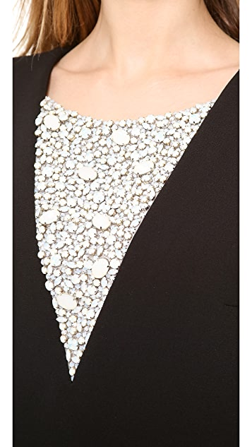 Thakoon Jeweled Side Slit Dress