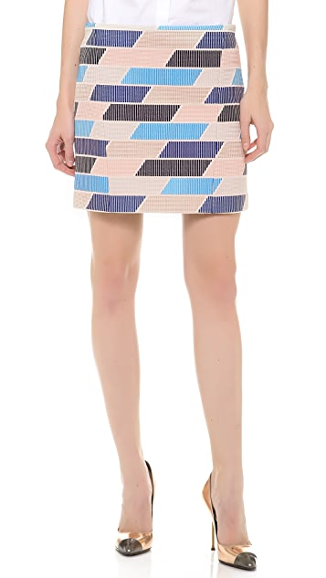 Thakoon Check Tweed Skirt