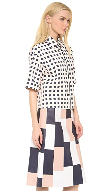 Thakoon 3/4 Sleeve Box Shirt