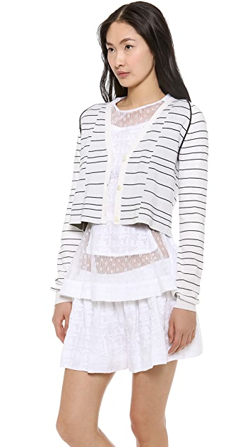 Thakoon Cropped Knit Cardigan