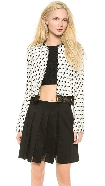 Thakoon Lace Trim Cardigan Jacket