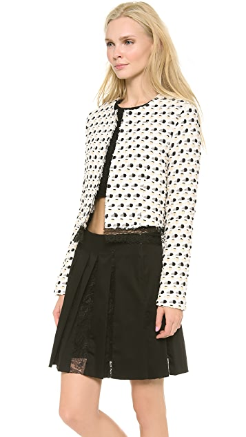 Thakoon Lace Trim Cardigan Jacket