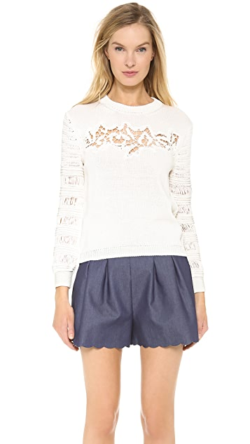 Thakoon Lace Front Pullover