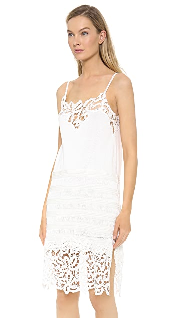 Thakoon Lace Embroidered Slip Dress