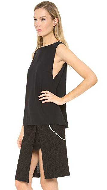 Thakoon Tank with Beaded Trim