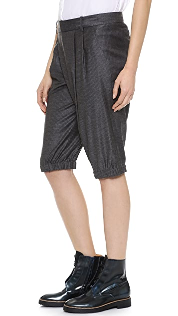 Thakoon Long Draped Front Shorts