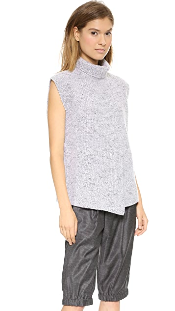 Thakoon Cross Front Turtleneck Sweater
