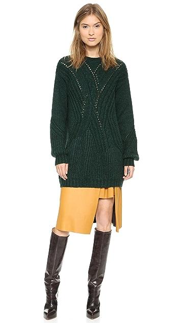 Thakoon Crew Neck Tunic Sweater