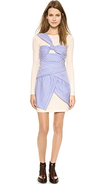 Thakoon Long Sleeve Wrapped Dress