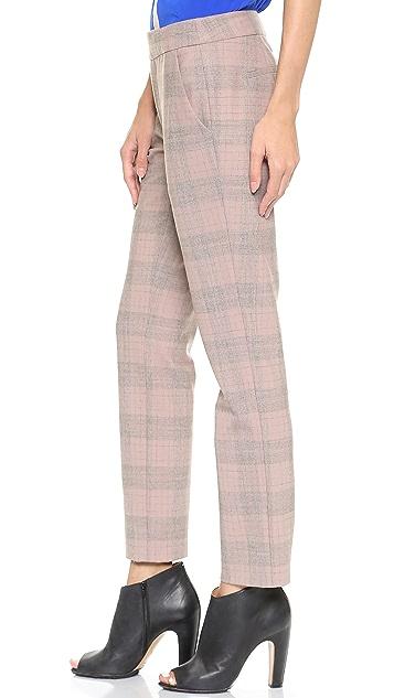 Thakoon Plaid Slim Ankle Pants