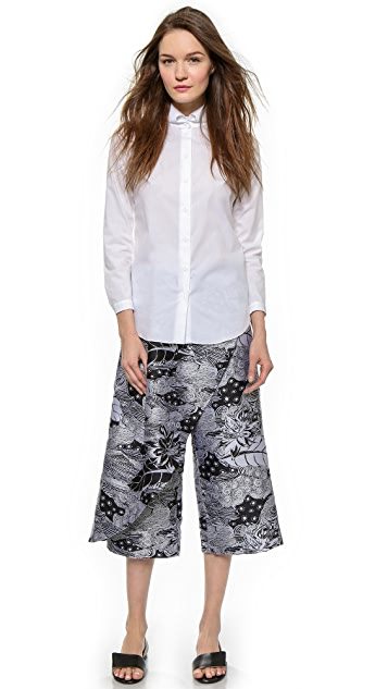 Thakoon Cross Front Cropped Pants