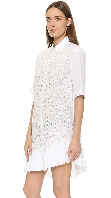 Thakoon Платье-рубашка с оборчатым подолом