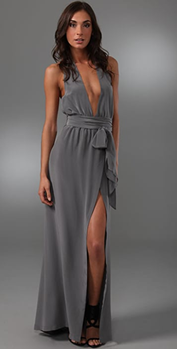 Thayer Long Halter Dress
