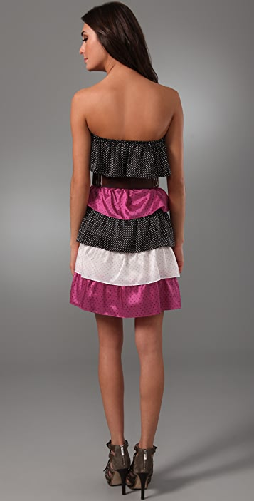 Thayer Spice Tiered Strapless Dress