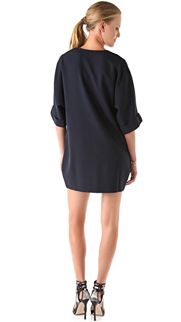 Thayer Deep V Cocoon Dress