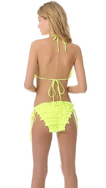 Thayer Ruffle Triangle Bikini Top