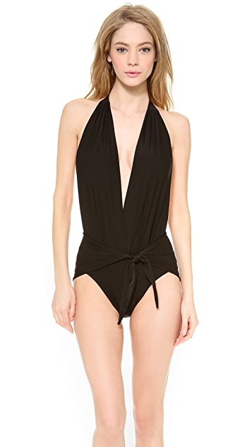 Thayer Splash Halter One Piece Swimsuit