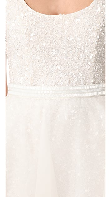Theia Illusion Skirt with Beaded Waist