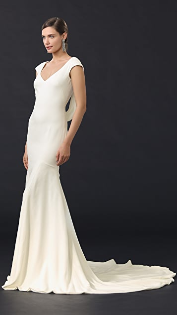 Theia Daria Cowl Back Gown