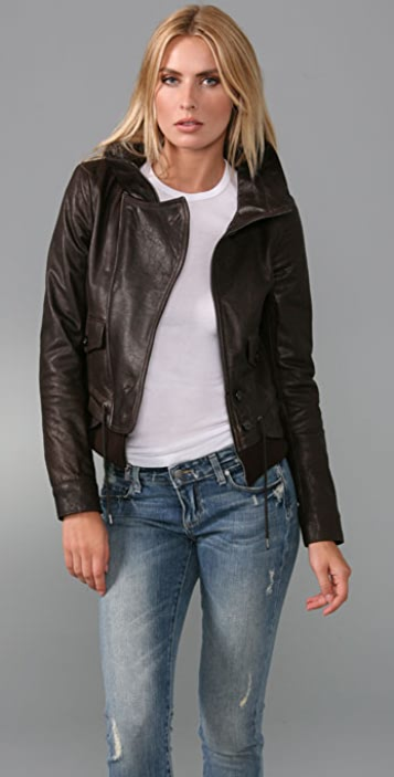 Theory Borie Leather Jacket