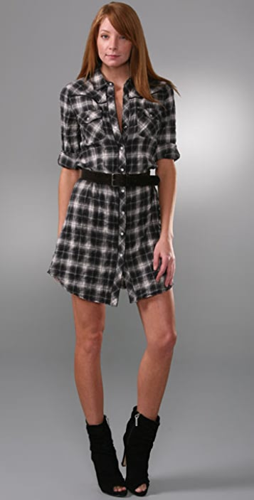 dd8b9eae7f Theory Kenvel Plaid Shirtdress | SHOPBOP