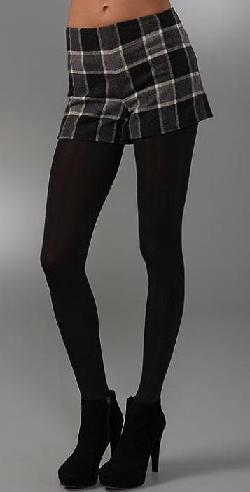 Theory Iselin Plaid Shorts